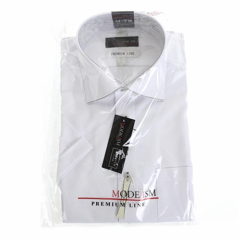 形態安定 セミワイド ワイシャツ 半袖 【MODE ISM PREMIUM LINE】