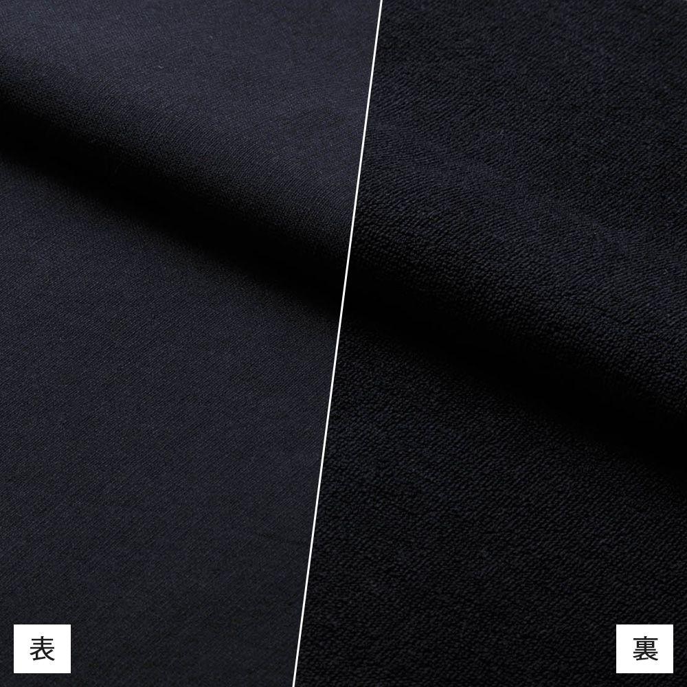 【hadae】 今治タオル認定済 プレミアムパイル レディース シャツワンピース 長袖  ブラック