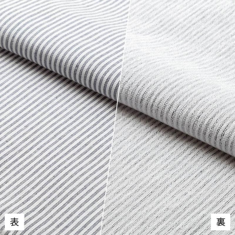 【hadae】 今治タオル認定済 プレミアムパイル メンズ カジュアルシャツ 長袖 ネイビーストライプ ボタンダウン