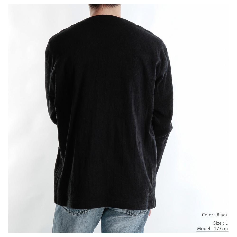 【hadae】 今治タオル認定済 ストレッチパイル メンズ ノーカラージャケット ブラック ストレッチ 軽量