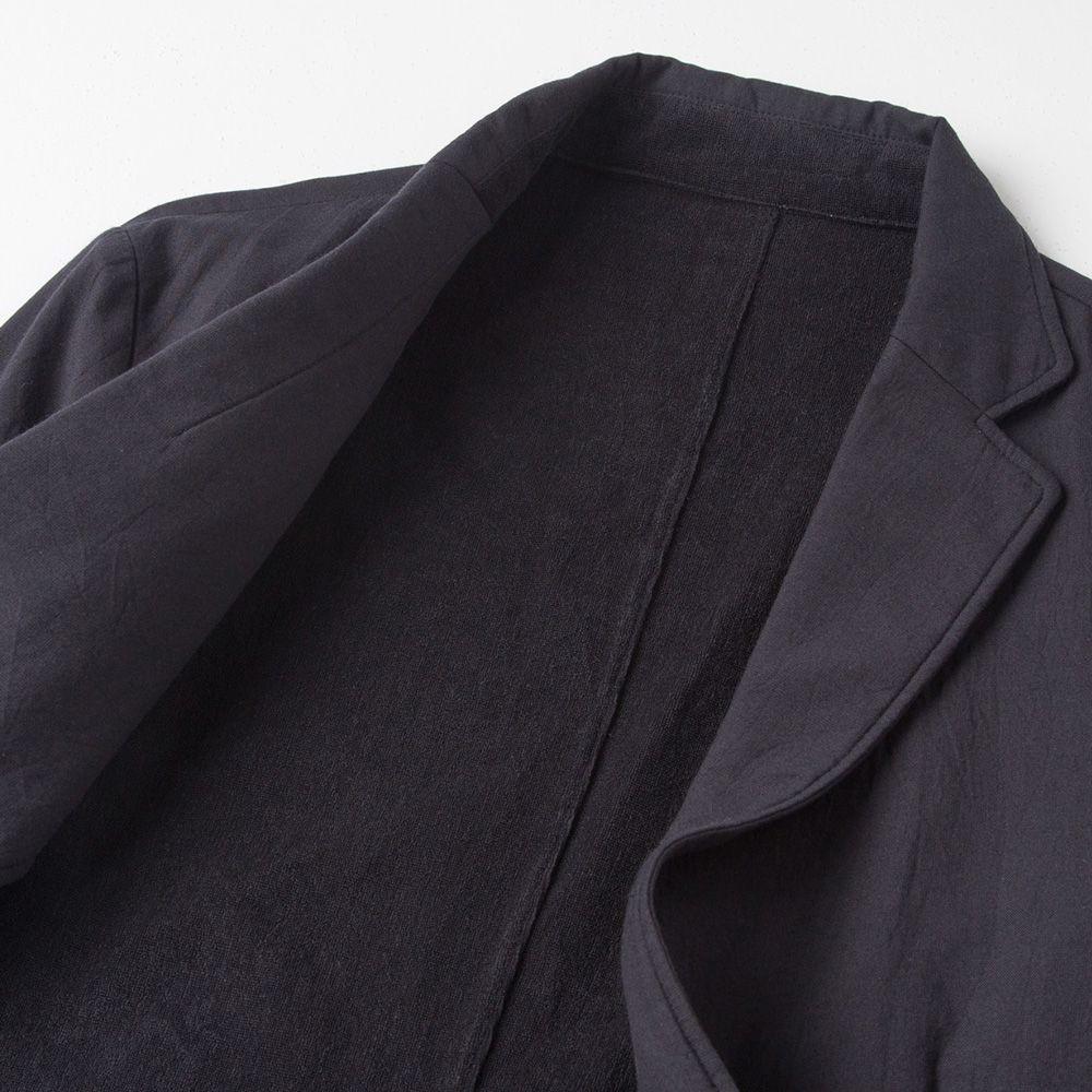 【hadae】 今治タオル認定済 プレミアムパイル メンズ ライトジャケット ブラック