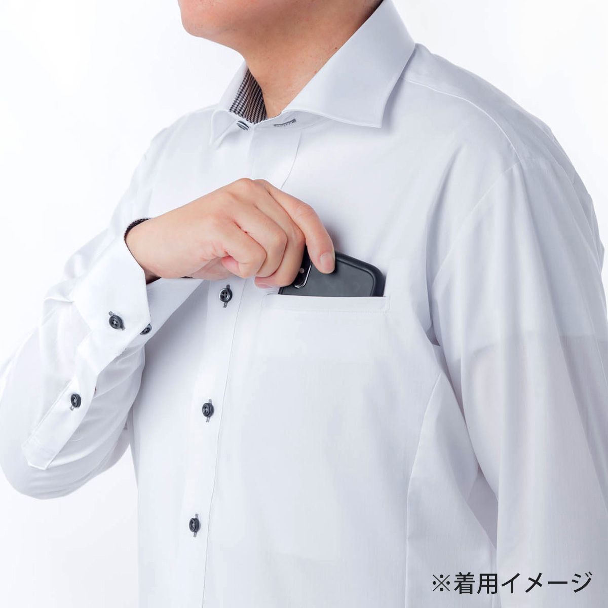 【初回体験特別販売】ピタッポ・形態安定 ボタンダウン 長袖 ※お1人様1枚限り