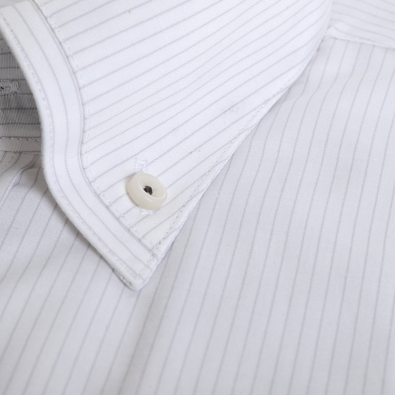 形態安定 マイターボタンダウン ワイシャツ 半袖 【MODE ISM】