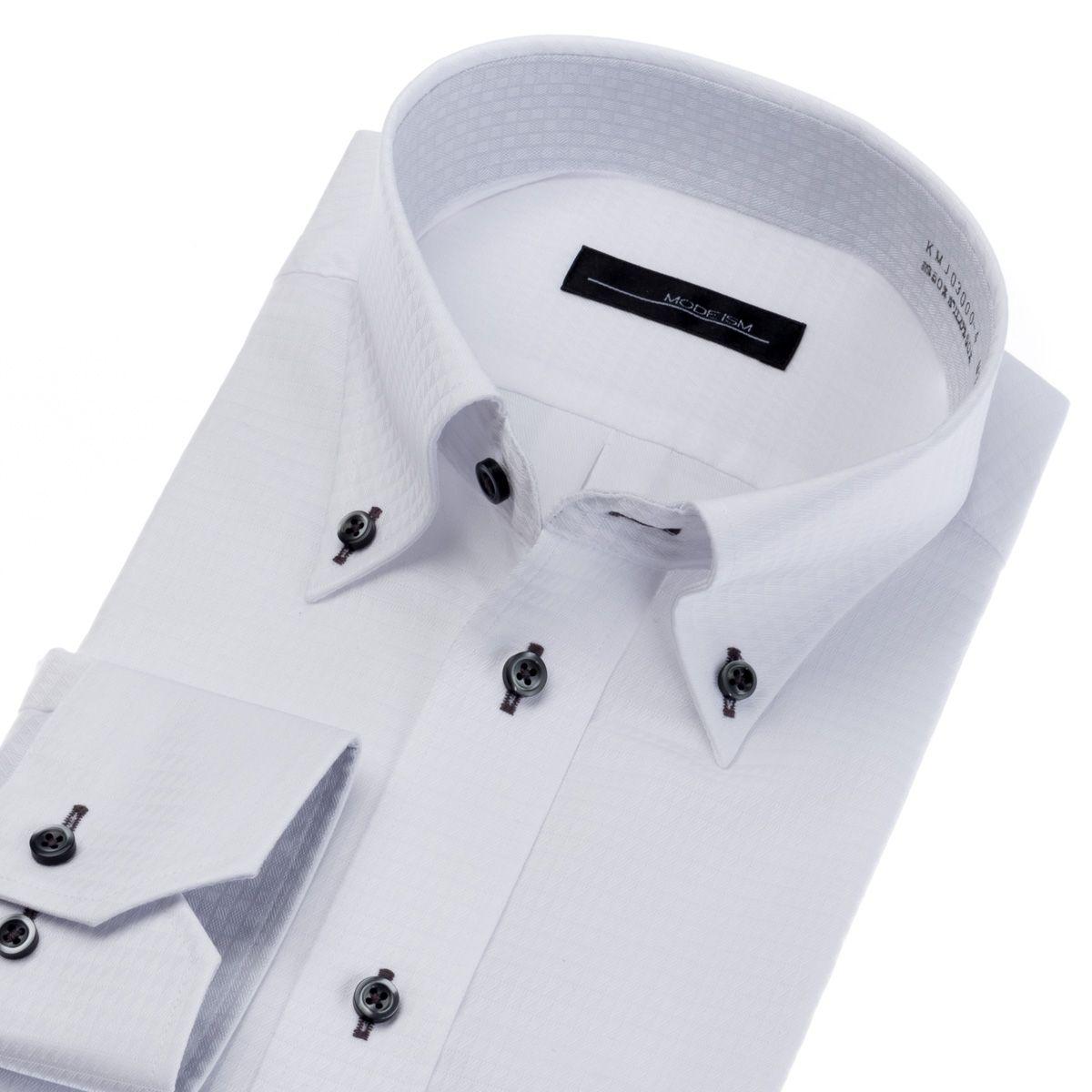 形態安定・吸水速乾・UVカット・抗菌防臭・吸水防汚 ボタンダウン ワイシャツ 長袖 【MODE ISM】