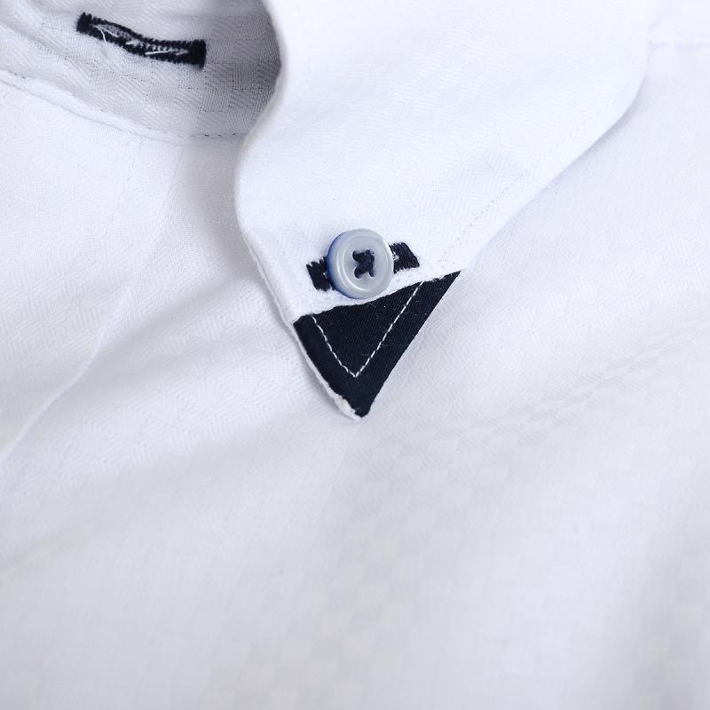 シャキッと!Vゾーン・形態安定 マイターボタンダウン ワイシャツ 半袖 【MODE ISM Vzone】