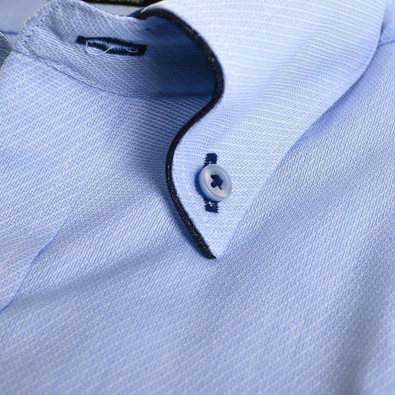 シャキッと!Vゾーン・形態安定 バイピングボタンダウン ワイシャツ 半袖 【MODE ISM Vzone】