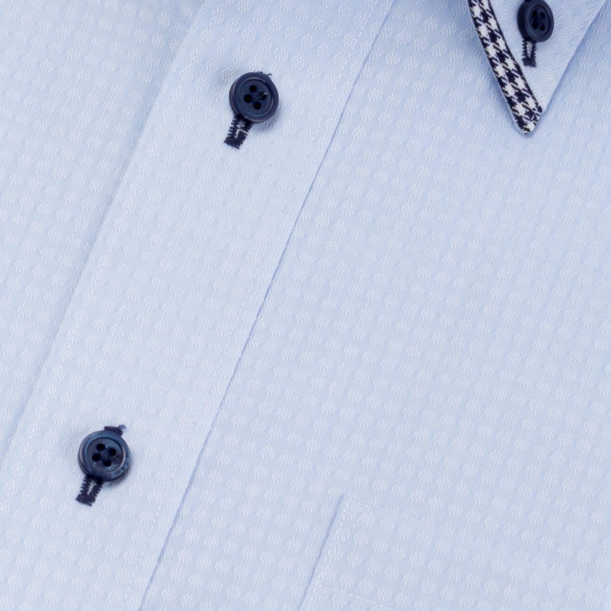 形態安定 フェイク二枚衿ボタンダウン ワイシャツ 長袖 【Artisanry】