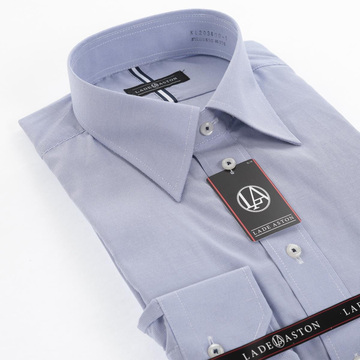 形態安定 セミワイド ワイシャツ 長袖 【LADE ASTON】