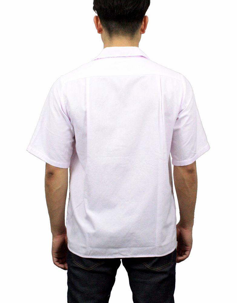 【hadae】《hadae x NIPOALOHA 》 今治タオル認定済 プレミアムパイル メンズ オープンシャツ 半袖 ピンク アロハ