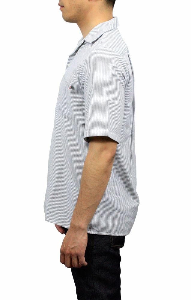 【hadae】《hadae x NIPOALOHA 》 今治タオル認定済 プレミアムパイル メンズ オープンシャツ 半袖 ネイビーストライプ アロハ