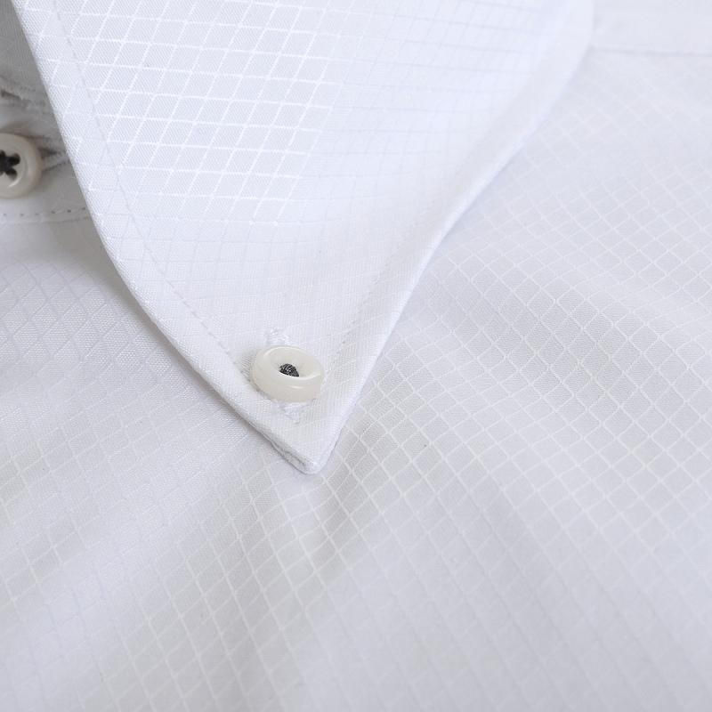 形態安定 防汚 ドゥエボタンダウン ワイシャツ 半袖 【MODE ISM】