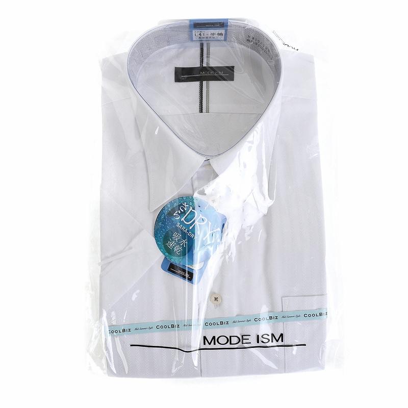形態安定 防汚 レギュラーカラー ワイシャツ 半袖 【MODE ISM】