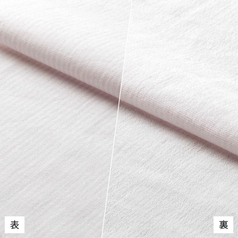 【hadae】 今治タオル素材 レディース カジュアルシャツ 長袖 ピンクストライプ L89100MH-3