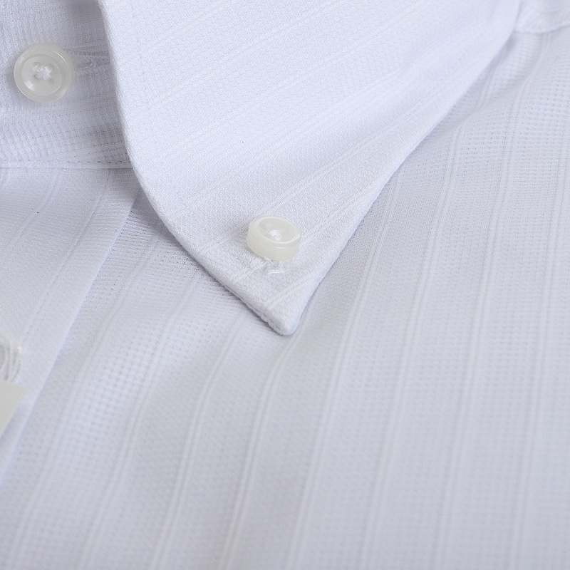 形態安定 ボタンダウン ワイシャツ 半袖 【DRY BIZ】