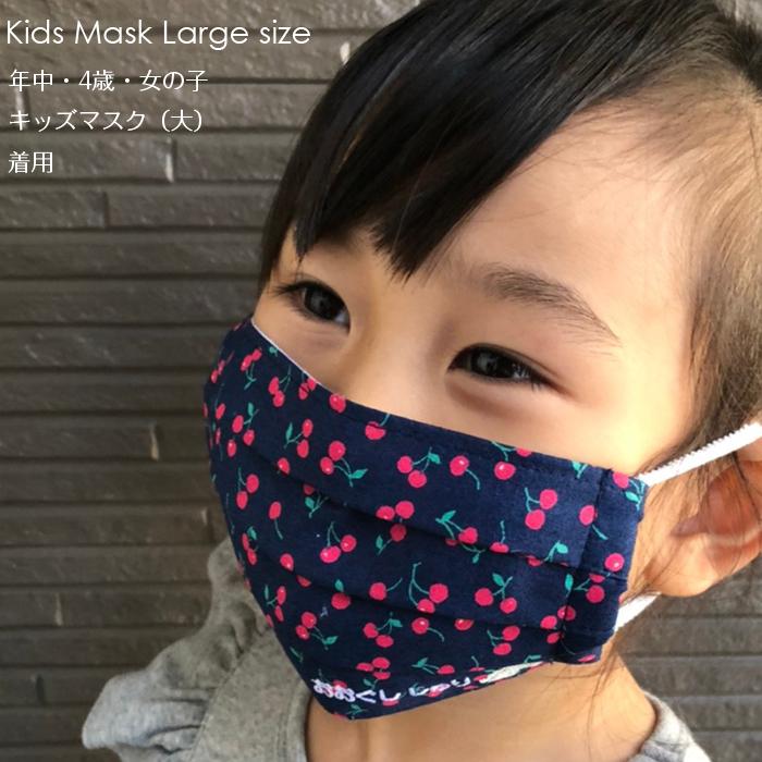 お名前刺繍入り 子供用マスク 大サイズ 2枚セット