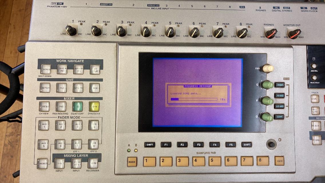 u46451 YAMAHA [AW4416] MTR 通電&ボタン反応のみ確認 中古