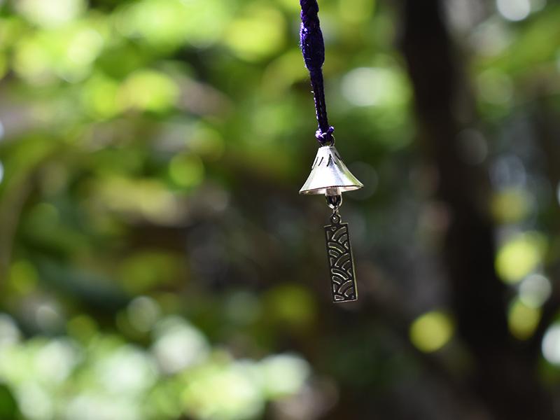 銀製 富士山根付 風鈴型