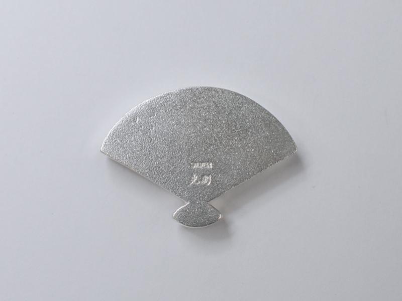 銀製 箸置き <扇子>