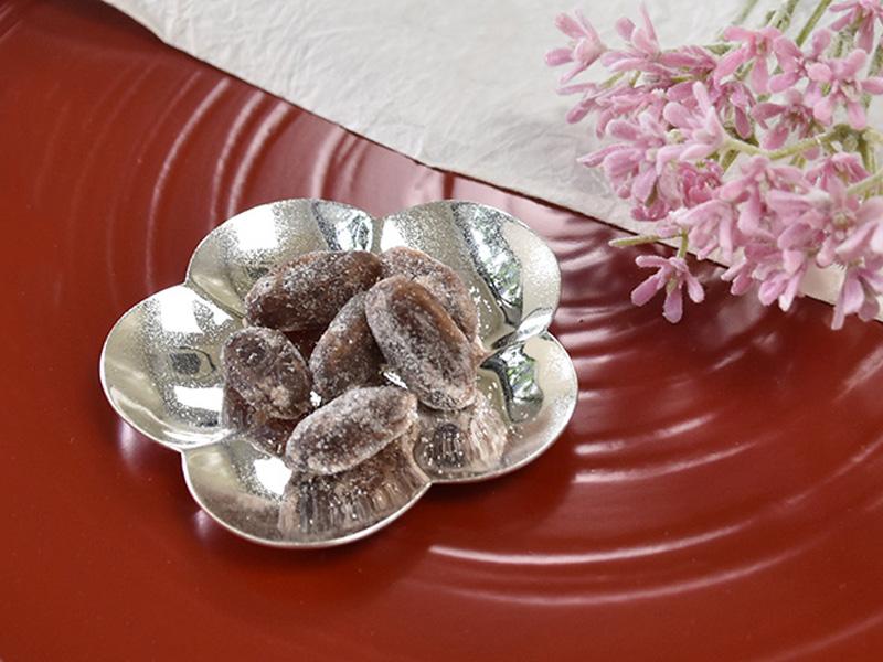 純銀製 豆皿 -梅-