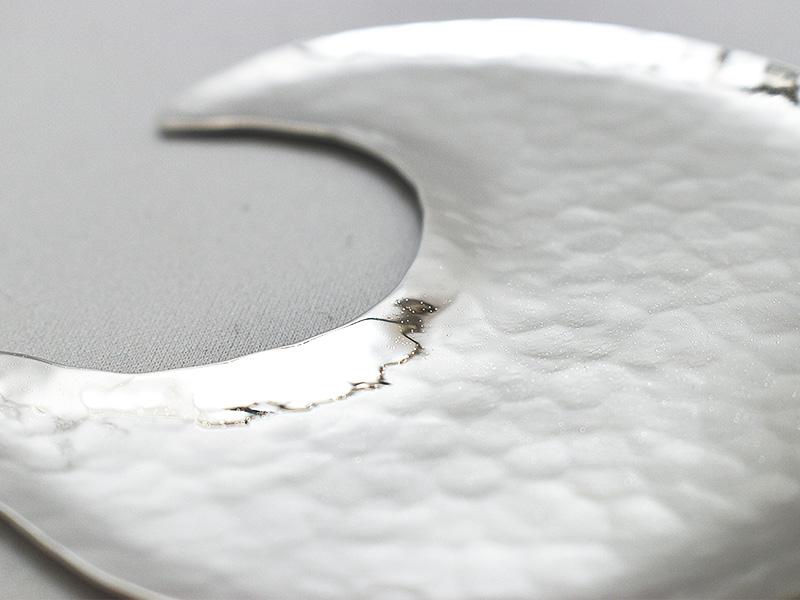 純銀製 豆皿 -月-