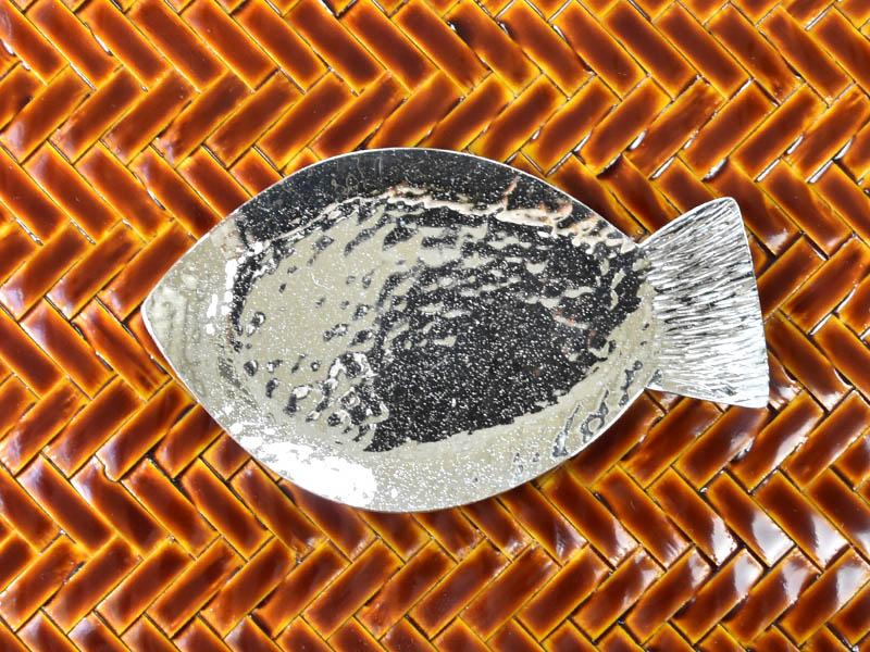 純銀製 豆皿 -おさかな-