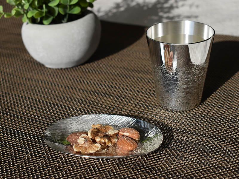 純銀製 豆皿 -sazanami-