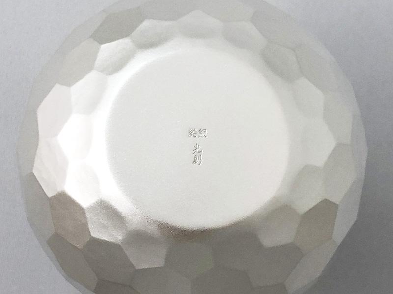 純銀製 徳利 猪口セット-亀甲-