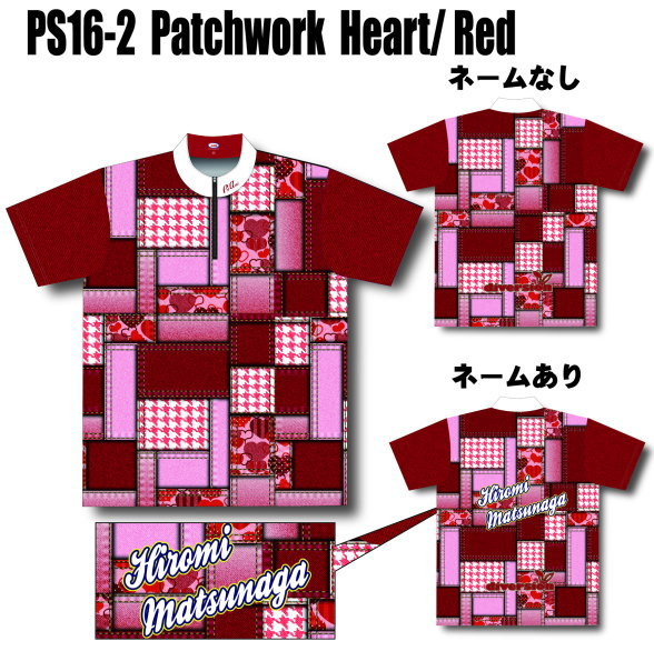 (ABS) PRO-am PS16-2 Patchwork ハート/レッド