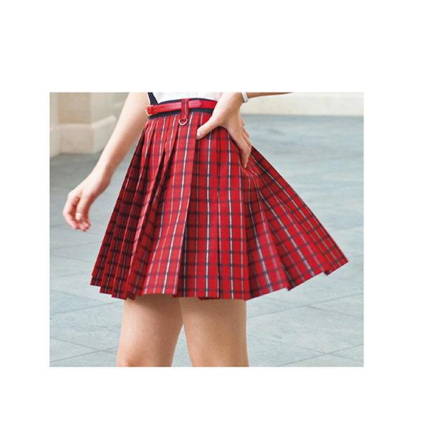 (ABS)  PAAS259 スカート ブリティッシュタータン レッド