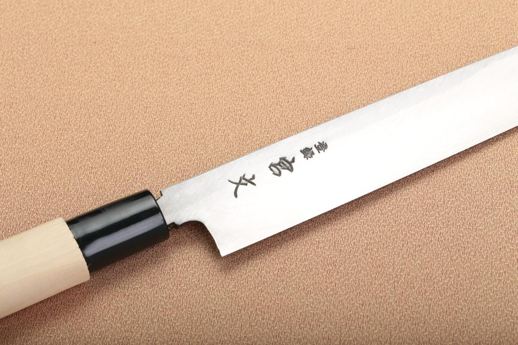 宮文 白紙柳刃240mm(左)