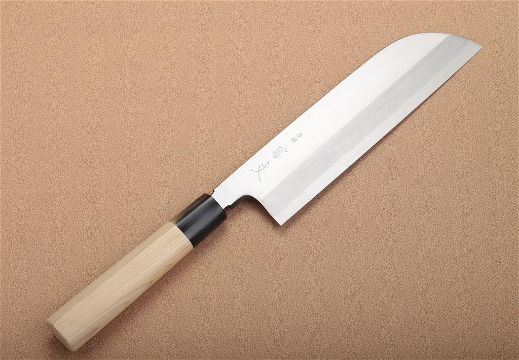 宮文 霞白鋼薄刃 鎌型210mm