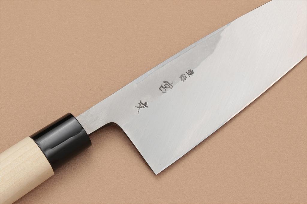 宮文 白紙出刃180mm(左)