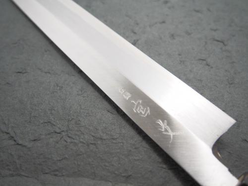宮文 霞青紙鋼柳刃300mm