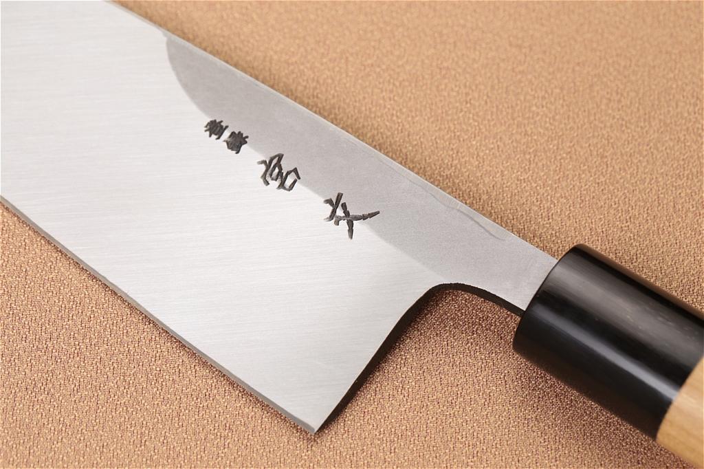 宮文 白紙出刃 水牛柄180mm