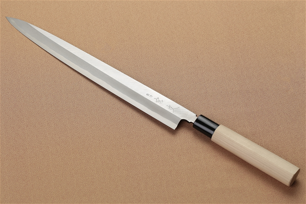 宮文 白紙柳刃270mm(左)