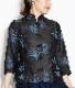 綿麻デニムのすずらん刺繍ジャケット Mサイズ