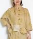綿麻デニムのすずらん刺繍ジャケット Lサイズ
