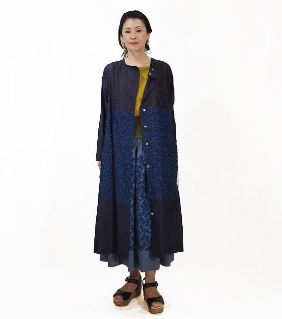 羽織れる羽刺繍の絶妙バランスワンピース