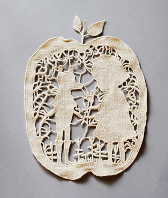 モチーフ りんご(中国製)