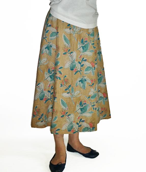 しなやかリネンフレアスカート