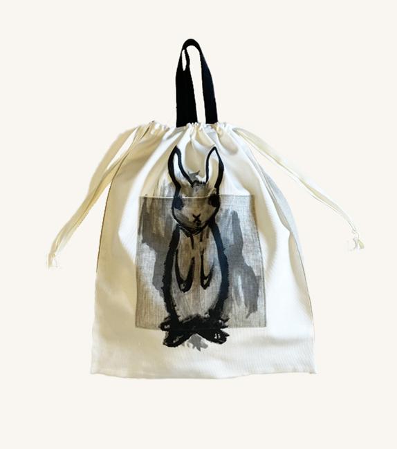 うさぎイラストのバッグ