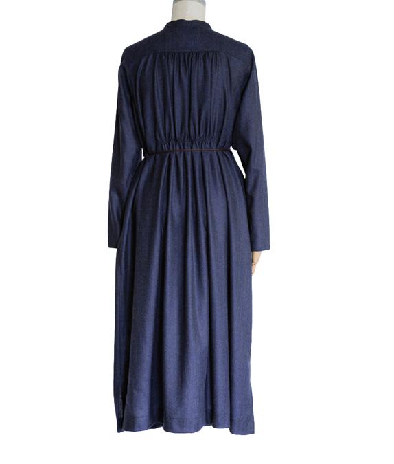 ラクナウ風刺繍の羽織れるワンピース