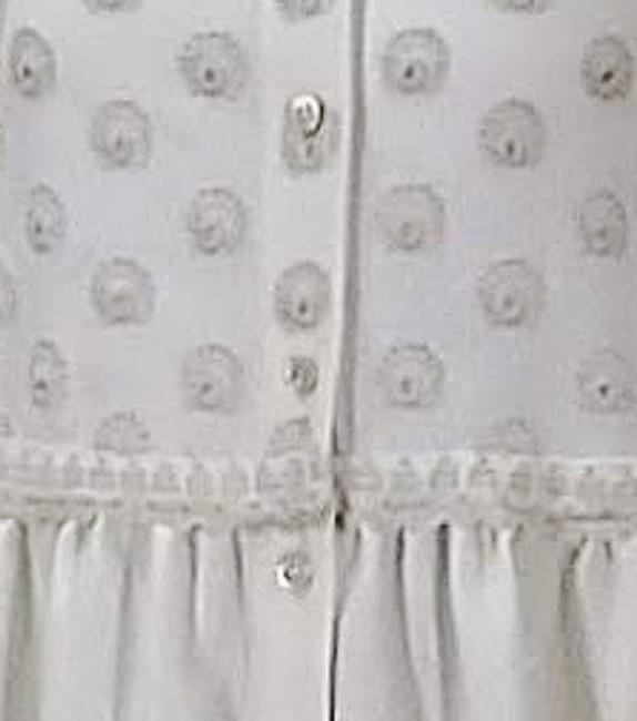 粒つぶ刺繍のロングブラウス