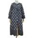 リーフ刺繍のコート