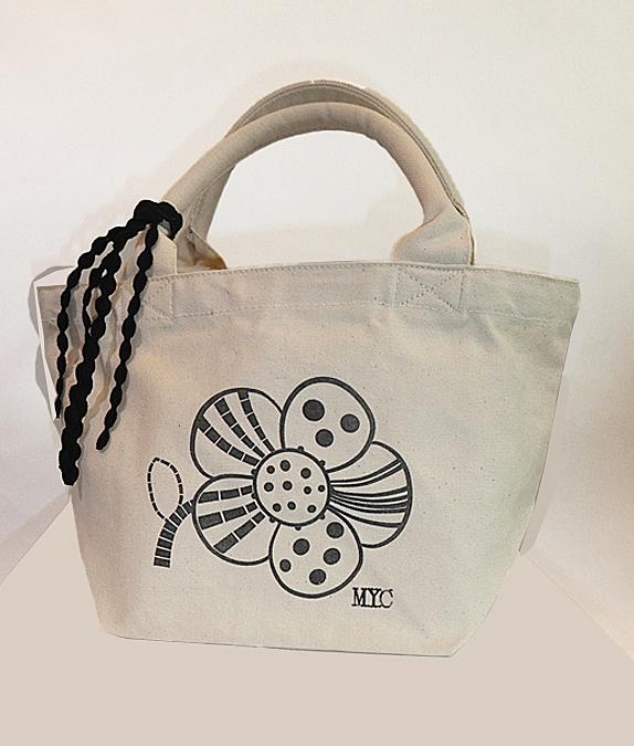 お花プリントバッグ+レースSet