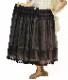 英国コットンチュールつりがね草刺繍スカート