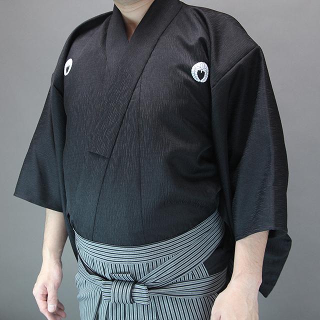 波柄ツムギ居合衣「曙(あけぼの)」(紋付用着物袖)