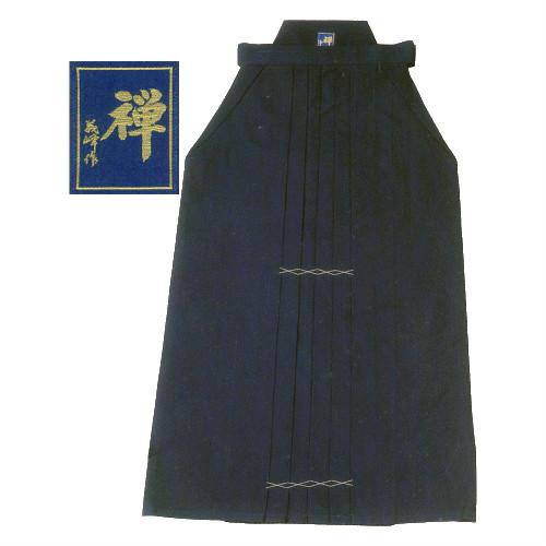 武州正藍染11,000番剣道袴 義峰作『禅』金印