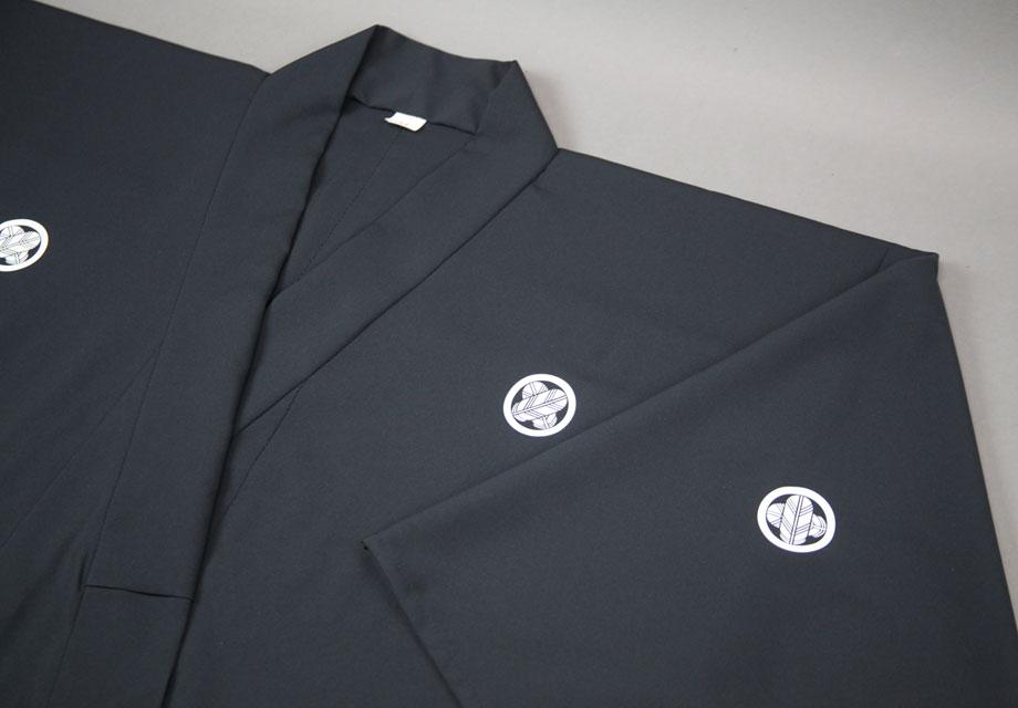 プリント家紋入【着物袖式居合衣専用】