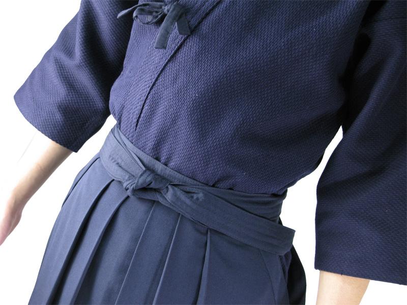 色止め紺一重剣道着+特製ポリエステル剣道袴セット